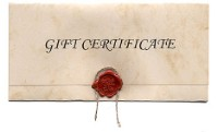 Gift Certificate $500.00 Value
