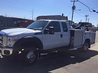 2016 Ford F450 with Dynamic Service Body Poly Fenders and 701 Wheel Lift Recovery Boom