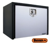 BUYERS Steel Underbody Toolboxes - Black w/ Stainless Door