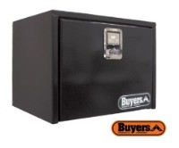 BUYERS Steel Underbody Toolboxes - Black w/ Single Door